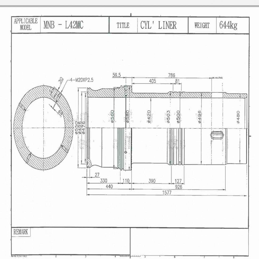 خرید لاینر موتور man b&w 6l 42mc