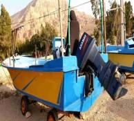فروش قایق با موتور ۷۵ اسببخار ساق بلند